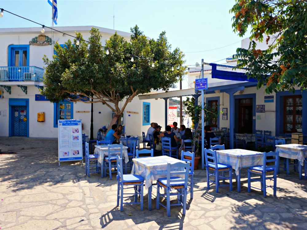 Lipsi eiland dorpsplein