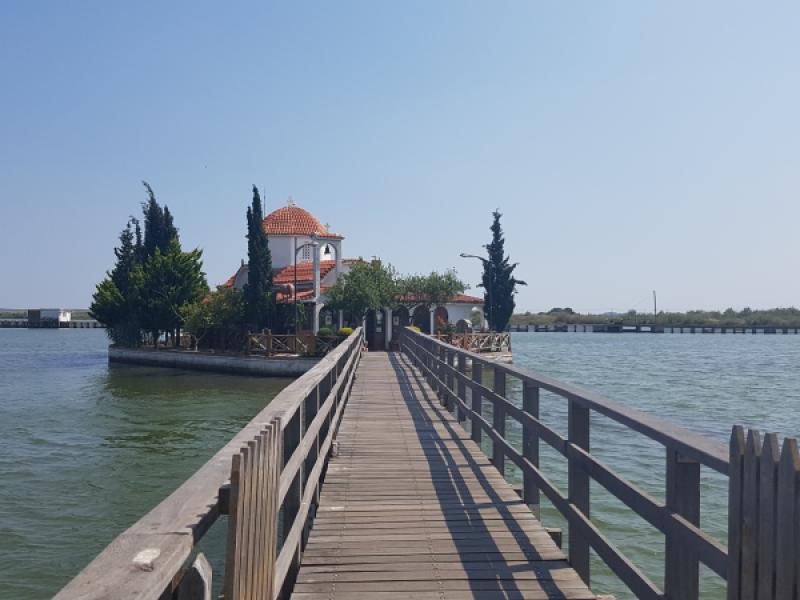 kerk in het water